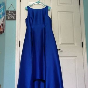 Adrianna Papell Blue HI-LOW Prom Dress